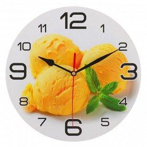 """Часы настенные, серия: Кухня, """"Мороженое с мятой"""", 24 см, стрелки микс"""