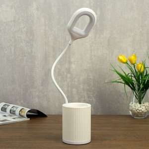 Лампа настольная сенсорная 85304/1 24хLED 3Вт 3 режима USB AKB белый 8,5х8,5х43 см