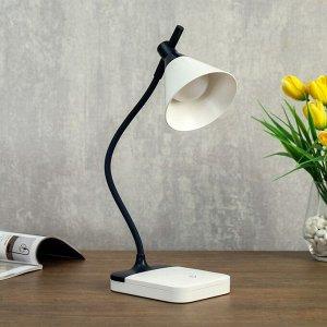 Лампа настольная сенсорная 85297/1 LED 3Вт 3 режима USB AKB бело-черный 12х10х37 см