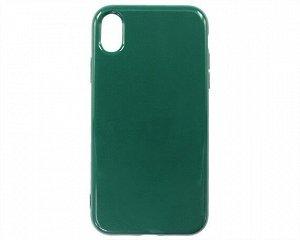 Чехол iPhone XR Силикон 2.0mm (темно-зеленый)