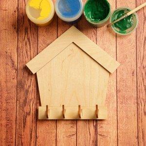 Заготовка для творчества «Ключница домик», на 4 крючка