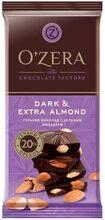 «OZera», шоколад горький с цельным миндалем Dark & Extra Almond, 90 г