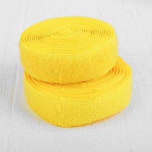 Липучка-лента, длина: 2 метра, ширина: 2 см, цвет жёлтый