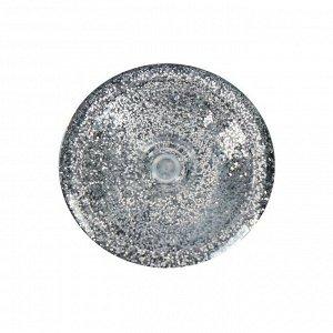 Декоративные блёстки, LU*ART Lu*Glitter, 20 мл, размер 0.2 мм, серебро