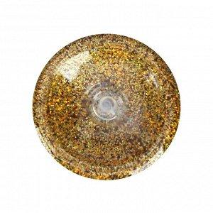 Декоративные блёстки LU*ART Lu*Glitter (сухие), 20 мл, размер 0.2 мм, голографическое золото
