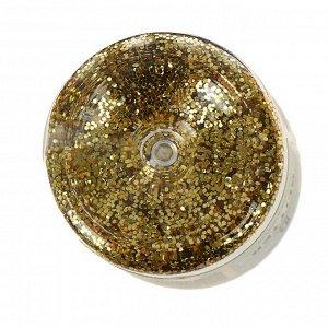 Декор блестки LU*ART Lu*Glitter (сухие), 20 мл, золото крупное