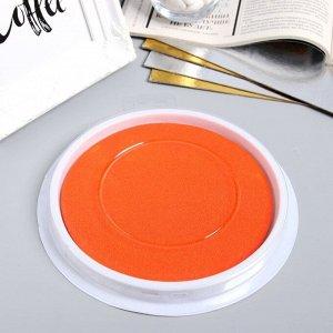 "Штемпельная подушка ""Оранжевый"" 1х16х16 см (для отпечатков рук)"