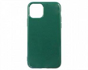 Чехол iPhone 11 Pro Силикон 2.0mm (темно-зеленый)