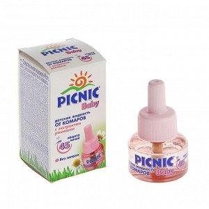 """Дополнительный флакон-жидкость от комаров """"Picnic Baby"""", с экстрактом ромашки, 45 ночей, 30 мл   146"""