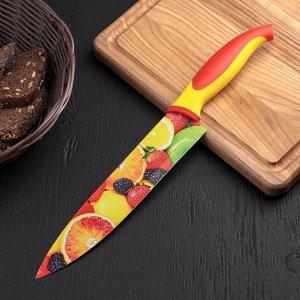 """Нож кухонный с антиналипающим покрытием 20 см """"Фрукты"""""""
