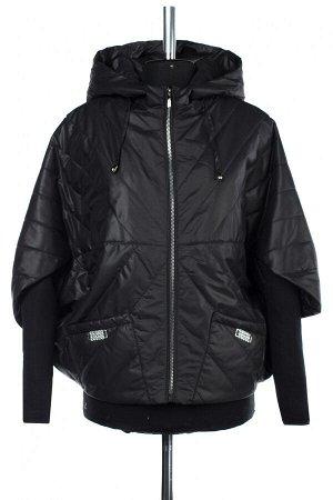 04-2530 Куртка демисезонная (синтепон 100) Плащевка черный
