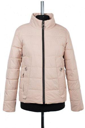 04-2392 Куртка демисезонная (синтепон 100) Плащевка бежево-розовый