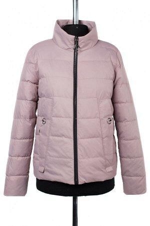 04-2394 Куртка демисезонная (синтепон 100) Плащевка розово-сиреневый