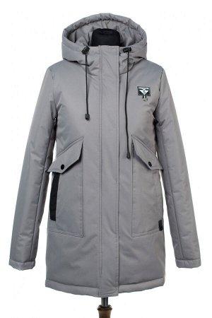 """04-2390 Куртка демисезонная """"University Action""""(Синтепон 150) Плащевка серый"""