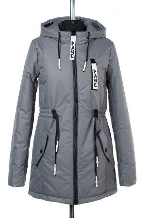 """04-2381 Куртка демисезонная """"University Action"""" (синтепон 150) Плащевка серый"""