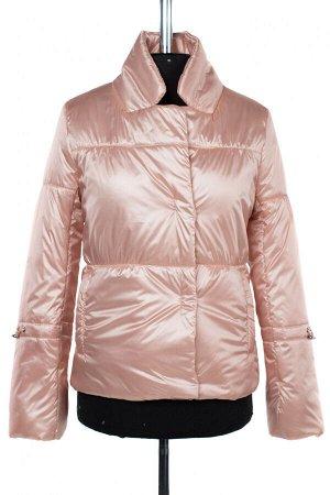 04-2497 Куртка демисезонная (синтепон 100) Плащевка бежево-розовый