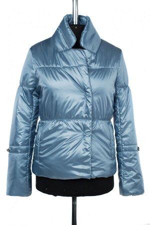 04-2498 Куртка демисезонная (синтепон 100) Плащевка серо-голубой