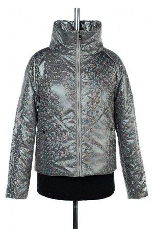 04-2494 Куртка демисезонная (синтепон 100) Плащевка серый