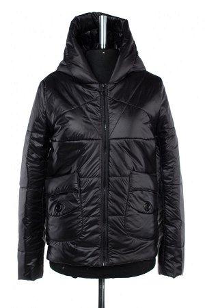 04-2470 Куртка демисезонная (синтепон 100) Плащевка черный