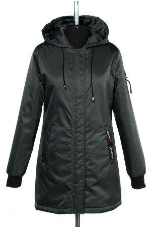 04-2462 Куртка демисезонная (синтепон 50) Плащевка темно-зеленый