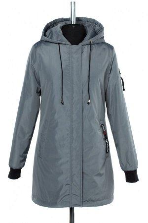 04-2460 Куртка демисезонная (синтепон 50) Плащевка серый