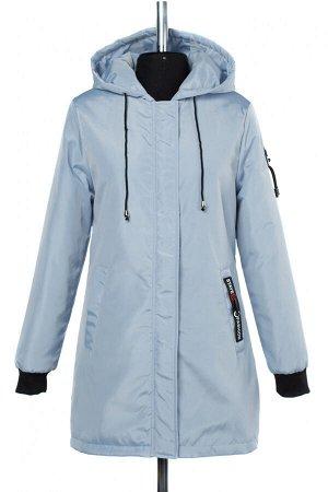 04-2459 Куртка демисезонная (синтепон 50) Плащевка серо-голубой
