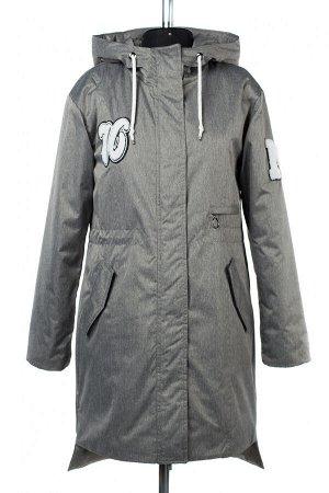 04-2423 Куртка демисезонная (синтепон 100) Плащевка серый