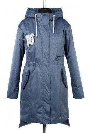 04-2422 Куртка демисезонная (синтепон 100) Плащевка серо-голубой