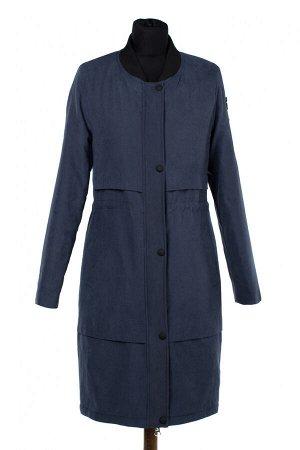 04-2416 Куртка демисезонная (синтепон 100) Плащевка серо-синий