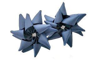 Бант для волос Ежик синий резинка
