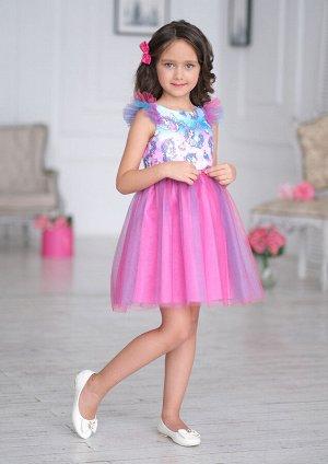 Милашка нарядное платье розовый