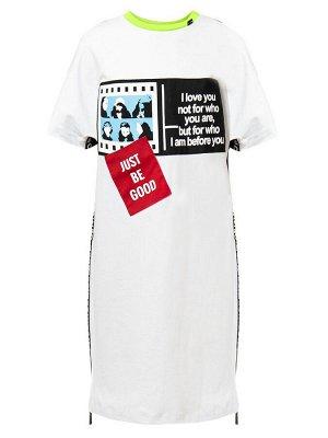 Платье свободного силуэта для девочки