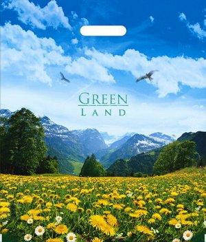 """Пакет ПВД с вырубной ручкой """"Зелёная долина"""""""