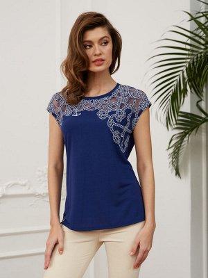 Фуфайка (футболка) жен BeGood SS20WJ147А Lady темно-синий