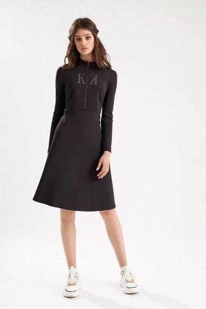 Платье тёмно-коричневый