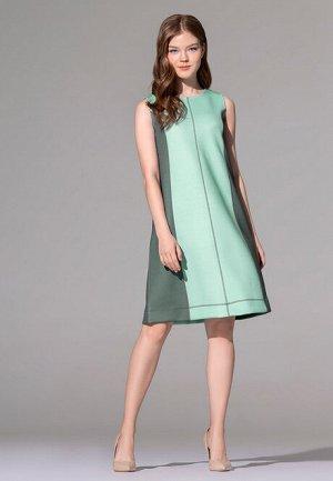 Платье из неопрена, цвет бирюзовый