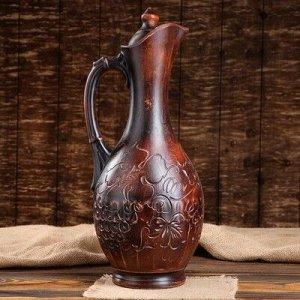 "Кувшин винный ""Виноград"" с декором, 3,3 л"