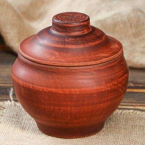 Горшок для запекания, 0,7 л, красная глина