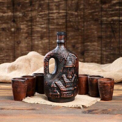 Много Глиняной Посуды  20. Полезно + Безопасно!  — Наборы для спиртных напитков КРАСНАЯ  ГЛИНА — Посуда для напитков