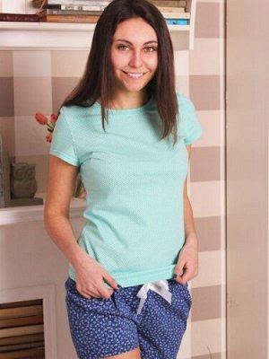 Костюм женский (футболка и шорты) Bonita, Горошек