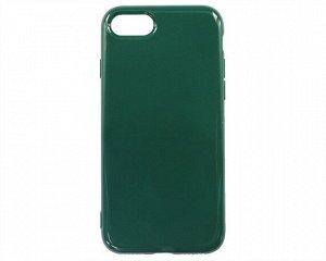 Чехол iPhone 7/8/SE 2020 Силикон 2.0mm (темно-зеленый)