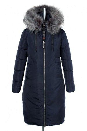 05-1778 Куртка женская зимняя (синтепух 350) Плащевка темно-синий