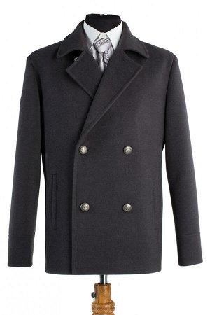 06-0035 Пальто мужское демисезонное (Рост 176) Кашемир темно-серый