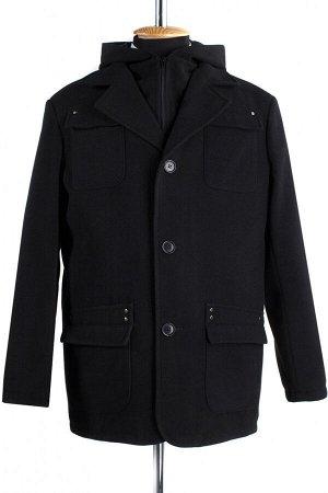 06-0132 Пальто мужское демисезонное (Рост 176) Кашемир черный