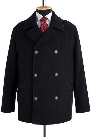 06-0136 Пальто мужское демисезонное (Рост 182) Кашемир черный