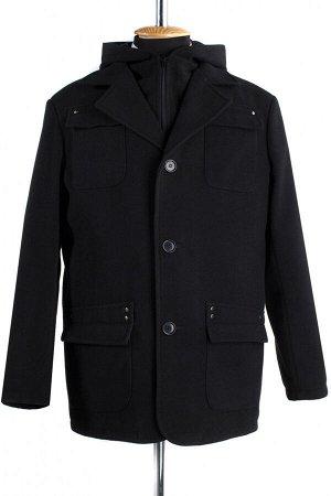 06-0130 Пальто мужское демисезонное (Рост 182) Кашемир черный