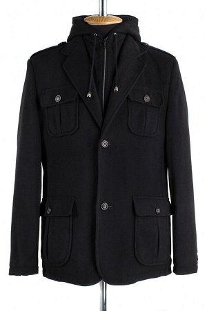 06-0134 Пальто мужское демисезонное (Рост 176) Кашемир черный