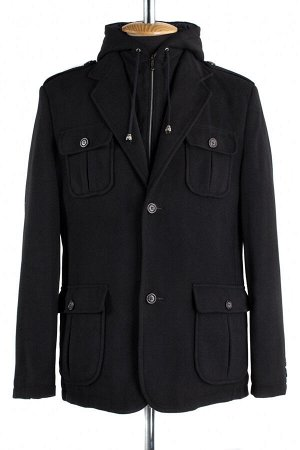 06-0131 Пальто мужское демисезонное (Рост 182) Кашемир черный