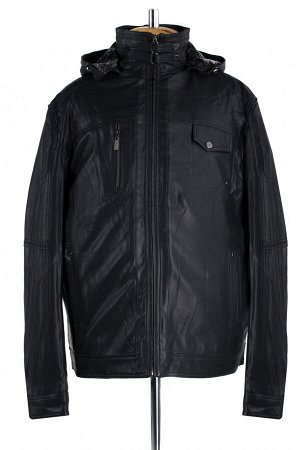 07-0057 Пальто мужское утепленное (рост 182) Дубленка черный