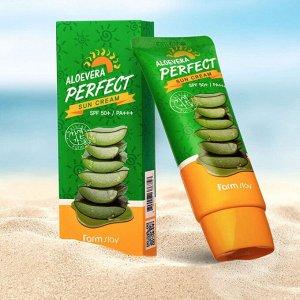 Farm Stay Aloevera Perfect Sun Cream SPF50 Солнцезащитный крем с алоэ